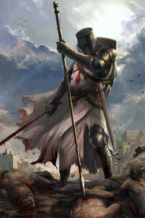 crusades helmet shield spear sword tabard templar // 690x1035 // 114.8KB