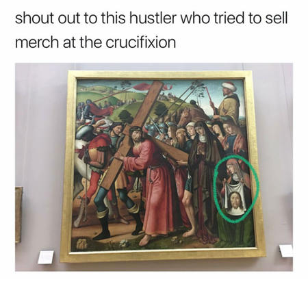 blasphemy cross humor hustle jesus merch // 1080x1002 // 132.6KB