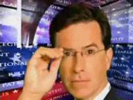 animated colbert glasses necktie suit // 200x150 // 390.9KB