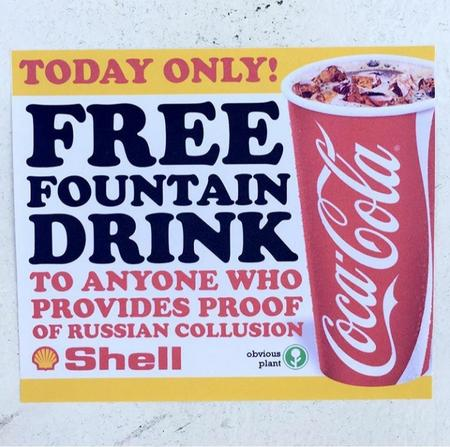 coke humor political shell sign // 720x715 // 364.4KB
