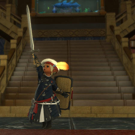 Adelina_Wyght FFXIV hat lalafell paladin screenshot shield sword // 600x600 // 56.5KB