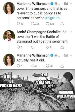2020 humor love marianne_williamson political stalingrad twitter // 500x748 // 57.9KB