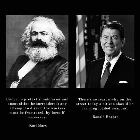 bw guns marx political reagan // 720x720 // 40.0KB