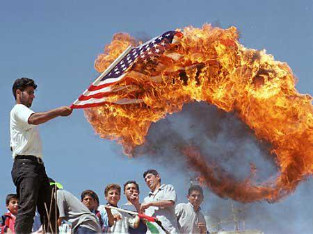 america fire flag photo political // 450x337 // 31.3KB