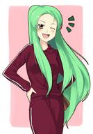 green_hair higurashi shion wink // 650x934 // 272.0KB