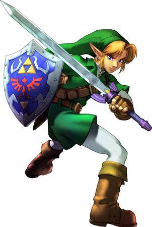 blonde boots elf gloves link shield soul_calibur sword zelda // 800x1191 // 123.5KB