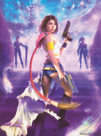 ffx2 gun high_res short_shorts shorts yuna // 2534x3410 // 1.4MB