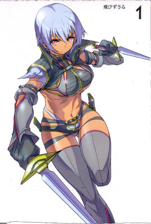 dagger high_res irima purple_hair queens_blade sword thighhighs // 1692x2508 // 791.5KB