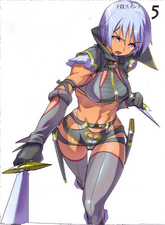dagger high_res irima purple_hair queens_blade sword thighhighs // 1832x2500 // 805.2KB