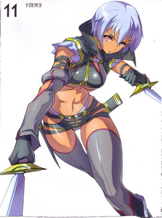 dagger high_res irima purple_hair queens_blade sword thighhighs // 1852x2496 // 848.2KB