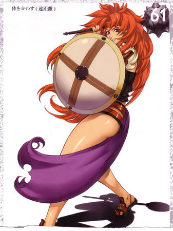 headband high_res listy mace queens_blade redhead sandals shield // 1916x2560 // 952.5KB