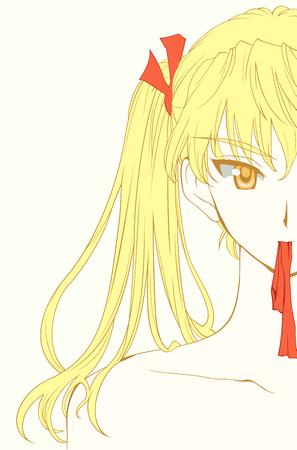 blonde eri high_res school_rumble twintails // 6594x10000 // 2.3MB