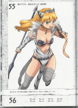 blonde erina gauntlets high_res long_hair queens_blade sausage spear // 1470x2028 // 425.0KB