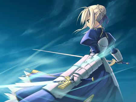 armor blonde fate saber skirt sword // 1024x768 // 77.3KB