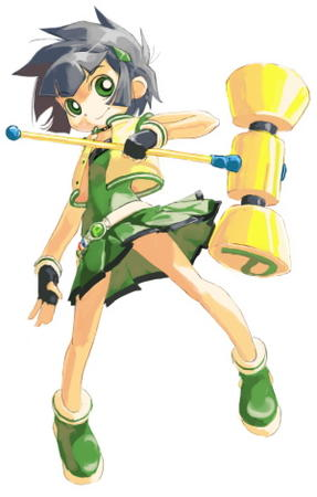 buttercup gloves hammer ppg short_hair skirt vest // 300x470 // 44.8KB