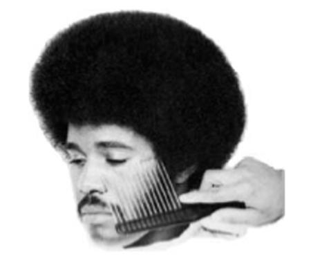 afro bw mustache photo // 746x640 // 76.6KB