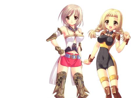 ashe blonde braids ffxii penelo short_skirt thighhighs twintails // 1600x1200 // 1.0MB