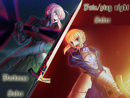 armor blonde dark desktop fate redhead saber sword // 1024x768 // 355.4KB