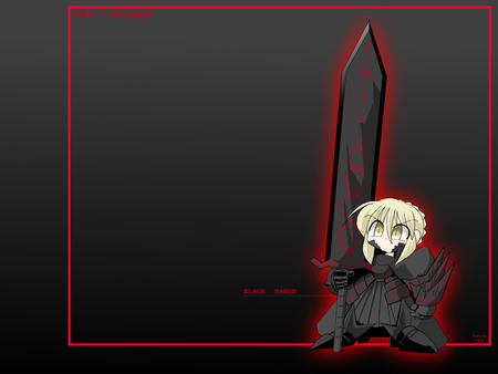 armor blonde dark desktop fate saber super_deformed sword // 1024x768 // 89.9KB