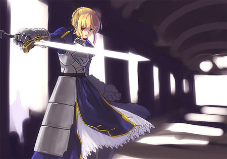 armor blonde desktop fate saber skirt sword // 1024x719 // 321.3KB
