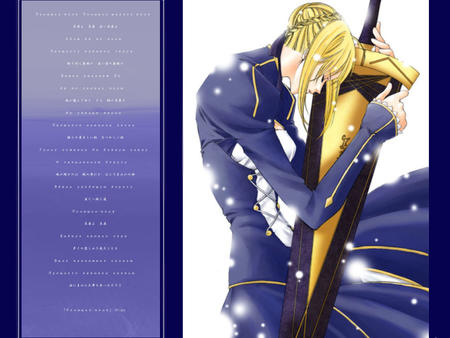 blonde desktop fate saber sword // 1024x768 // 107.4KB