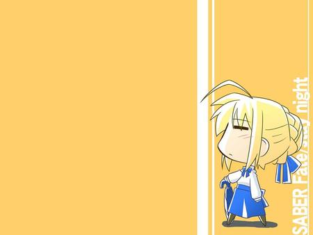 blonde fate saber skirt super_deformed umbrella // 1024x768 // 54.5KB