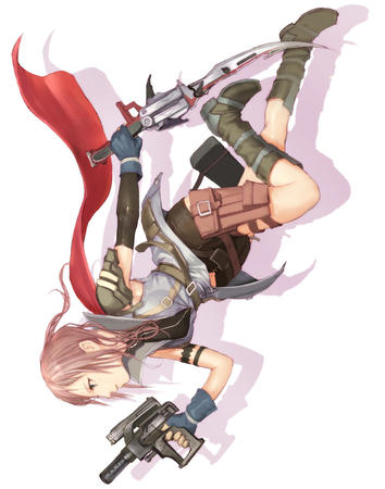 boots ffxiii gloves gun shorts sword vest // 865x1100 // 155.3KB