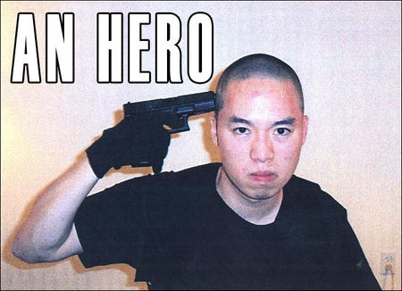 an_hero cho_seung_hui gun macro photo school_shooting tee-shirt // 657x476 // 77.3KB