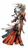 dnd gown gray_hair paizo sorcerer staff // 500x836 // 51.4KB