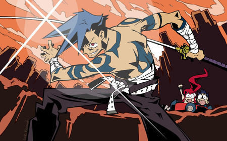bumper gurren_lagann high_res kamina sword vector // 1680x1050 // 367.8KB
